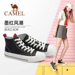 Camel/骆驼2019秋季新款韩版休闲鞋学生板鞋女高帮鞋女
