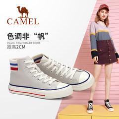 Camel/骆驼2019秋季新款 时尚潮流韩版百搭高帮帆布鞋女