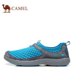 Camel骆驼户外徒步网鞋正品 2014新款男士轻便套筒透气休闲鞋网鞋
