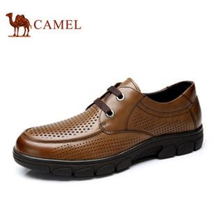 Camel骆驼商务休闲男鞋 2014夏季新款皮凉鞋真皮头层皮透气皮鞋