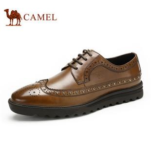 Camel 骆驼男鞋 英伦商务布洛克鞋 2014秋季新款牛皮男士鞋子