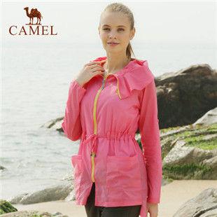 骆驼户外女款皮肤衣 2014年新款防晒衣 防紫外线透气皮肤风衣正品
