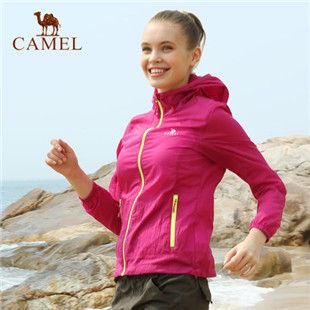 骆驼户外皮肤衣 2014年新款 女款超薄透气风衣 防紫外线4S149005