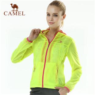 骆驼户外女款两件套皮肤衣 2014年新款 超薄超轻户外风衣4S1Y1005