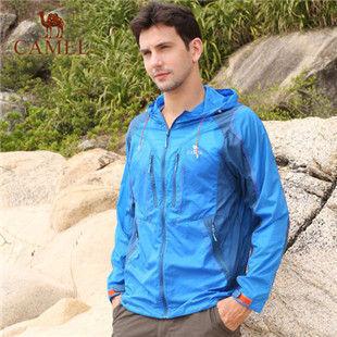 骆驼户外男款皮肤衣 2014年新款 防紫外线超薄运动风衣A4S2AA907