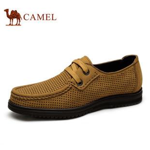 Camel 骆驼网面鞋 英伦时尚日常透气休闲皮鞋 2015夏季新款男鞋