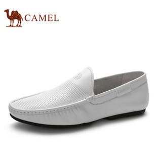 Camel 骆驼男鞋 日常休闲皮鞋简约套脚懒人鞋 2015夏季新款真皮