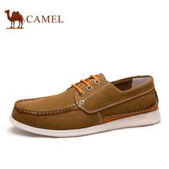 Camel 骆驼男鞋 日常休闲牛皮耐磨男鞋 2015春季新款休闲板鞋 男