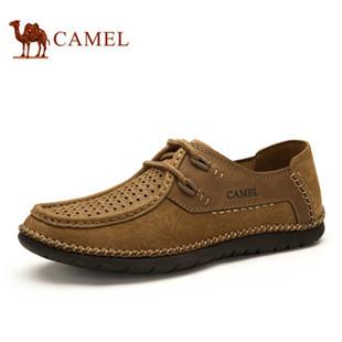 Camel 骆驼男鞋 复古磨砂牛皮手工休闲皮鞋 2015夏季新款男鞋