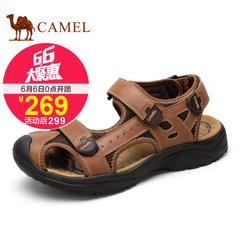 聚Camel 骆驼男凉鞋 复古潮流沙滩凉鞋 2015夏季新款牛皮凉鞋透气