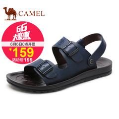 聚Camel骆驼男鞋 2015夏季新款透气日常休闲凉鞋 牛皮舒适男凉鞋