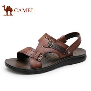 Camel駱駝男涼鞋 真皮涼鞋男夏沙灘鞋男 2015新款男士涼鞋休閑