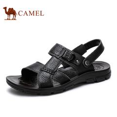 Camel 骆驼男鞋2015夏季新款牛皮凉鞋日常休闲舒适透气凉鞋男款