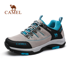 【情侣款】Camel/骆驼男鞋 磨砂牛皮休闲鞋运动户外男鞋2015秋季
