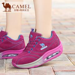 【新品】Camel/骆驼女鞋 2015秋季新款女鞋 运动休闲磨砂皮女单鞋