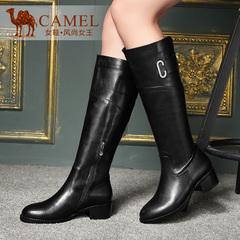 camle骆驼女靴 2015冬新款高筒靴 优雅简约日常休闲女靴长靴