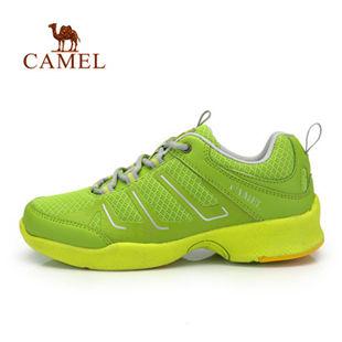 骆驼户外徒步鞋 2014年新款 女低帮系带网面透气徒步鞋正品