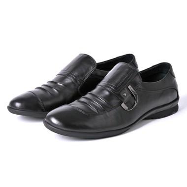 骆驼男鞋camel-0061231-简洁优雅舒适商务正装男鞋黑色