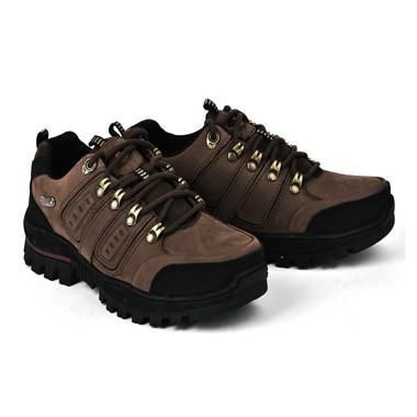 骆驼男鞋camel-0551866-秋冬款磨砂牛皮防滑户外登山鞋棕色