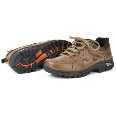 骆驼男鞋camel-0793856-透气全真皮户外防滑耐磨登山鞋棕色