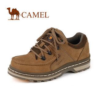 美国骆驼 正品 男 鞋休闲鞋 头层磨砂牛皮系带男鞋0260526