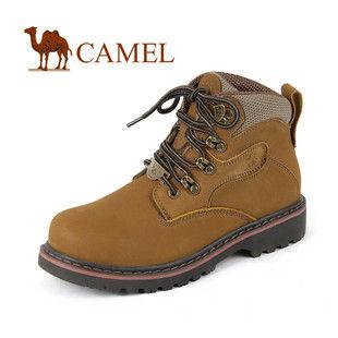 CAMEL 骆驼 头层磨砂皮男女款大头高帮户外登山鞋 1160421情侣鞋 款