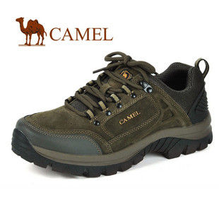 CAMEL美国骆驼1660016 正品 男鞋 户外登山鞋 男士徒步鞋 真皮磨砂