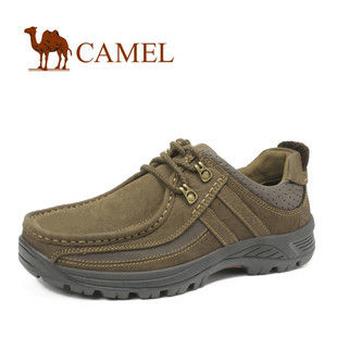 全民疯抢!粗犷魅力 CAMEL骆驼 男鞋 经典磨砂牛皮徒步休闲鞋2302003
