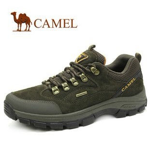 新款!CAMEL骆驼 男鞋 舒适耐磨 户外牛皮徒步登山鞋 2330021