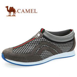 camel 骆驼 男鞋 透气网面 时尚休闲运动鞋82245600