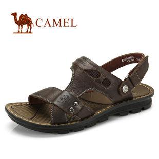 camel 骆驼 2012夏日 男鞋 真皮 时尚休闲男凉鞋 82241600
