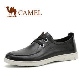 CAMEL美国骆驼 皮鞋 男士平底休闲鞋 系带男鞋0080121