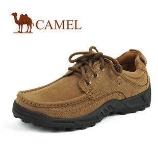 CAMEL美国骆驼男鞋 头层牛皮懒人套脚平板时尚休闲鞋1230731