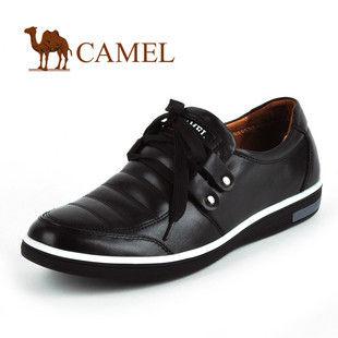 CAMEL美国骆驼16085793真皮系带时尚男鞋 意大利绅士休闲鞋