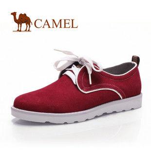 CAMEL美国骆驼 男 女鞋 时尚缤纷磨砂休闲平底系带 情侣鞋2003208