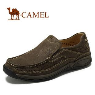 camel 骆驼 男鞋 真皮时尚日常休闲鞋 平底舒适 2012春款 2066057