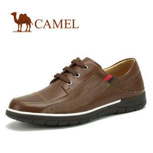 CAMEL美国骆驼 2011春夏款意式绅士休闲平板皮鞋603221 系带男鞋