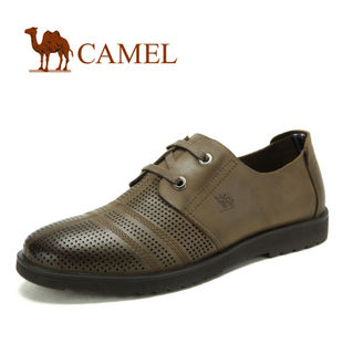 camel 骆驼 男鞋 尊贵气质 真皮牛皮商务休闲鞋 2012新款82043601