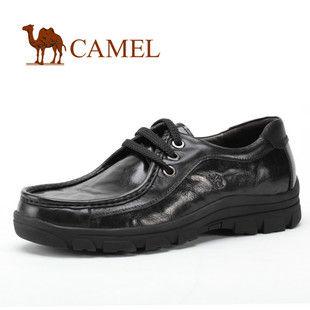 CAMEL骆驼 正品 男鞋子 男 舒适城市商务正装皮鞋 秋冬0333671