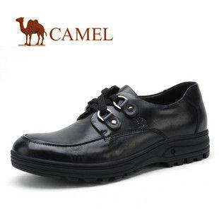 CAMEL美国骆驼0337164 男鞋 系带 男士商务休闲鞋 休闲皮鞋 皮鞋