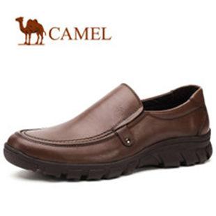 CAMEL骆驼 正品男士商务休闲鞋 真皮舒适日常休闲男鞋0433595