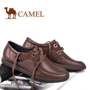 美国骆驼 正品 男鞋 商务休闲皮鞋子 男 头层牛皮鞋1150115