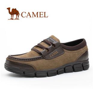 CAMEL美国骆驼 鞋子 男 磨砂牛皮商务休闲鞋 休闲男鞋1600011