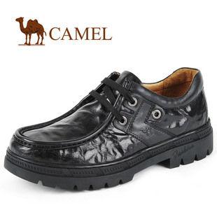儒雅绅士 CAMEL骆驼 百搭商务休闲皮鞋 日常 休闲男鞋 1920011