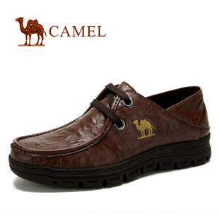 camel 骆驼 2012新款男鞋 真皮头层皮商务休闲鞋 2005601