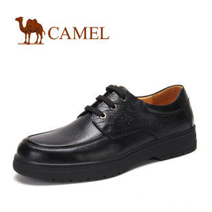 CAMEL骆驼 男鞋 优雅简约 系带商务休闲鞋 正装 商务 休闲皮鞋2016033