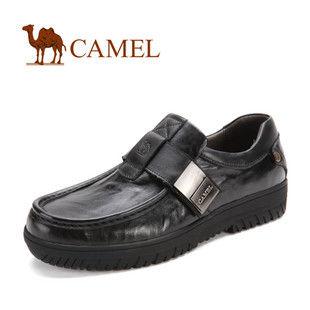 新款!CAMEL骆驼 男鞋 休闲个性商务皮鞋 2033022