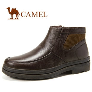 2011秋冬新品!CAMEL骆驼 男鞋 荔枝纹牛皮商务休闲短靴 2223025