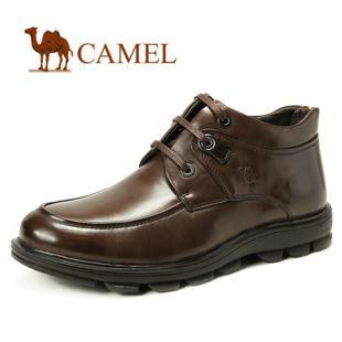 骆驼 冬季男靴子 短靴 韩版 真皮头层 真毛里 保暖高帮 靴2286005