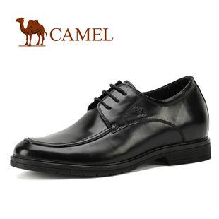 CAMEL绅士正装系列 骆驼商务男鞋 内增高经典系带皮鞋0295361